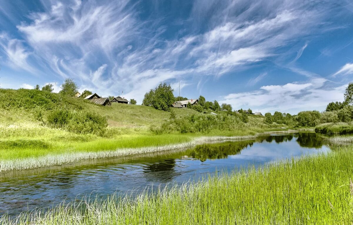 Картинки речки в деревни