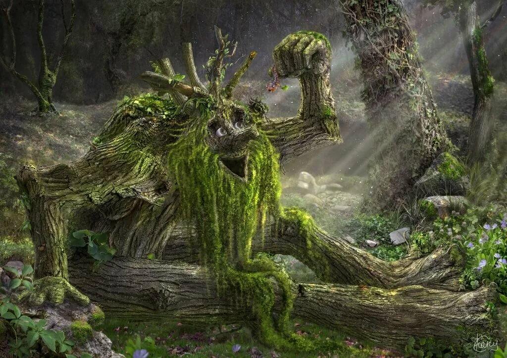 Леший лесной в картинках