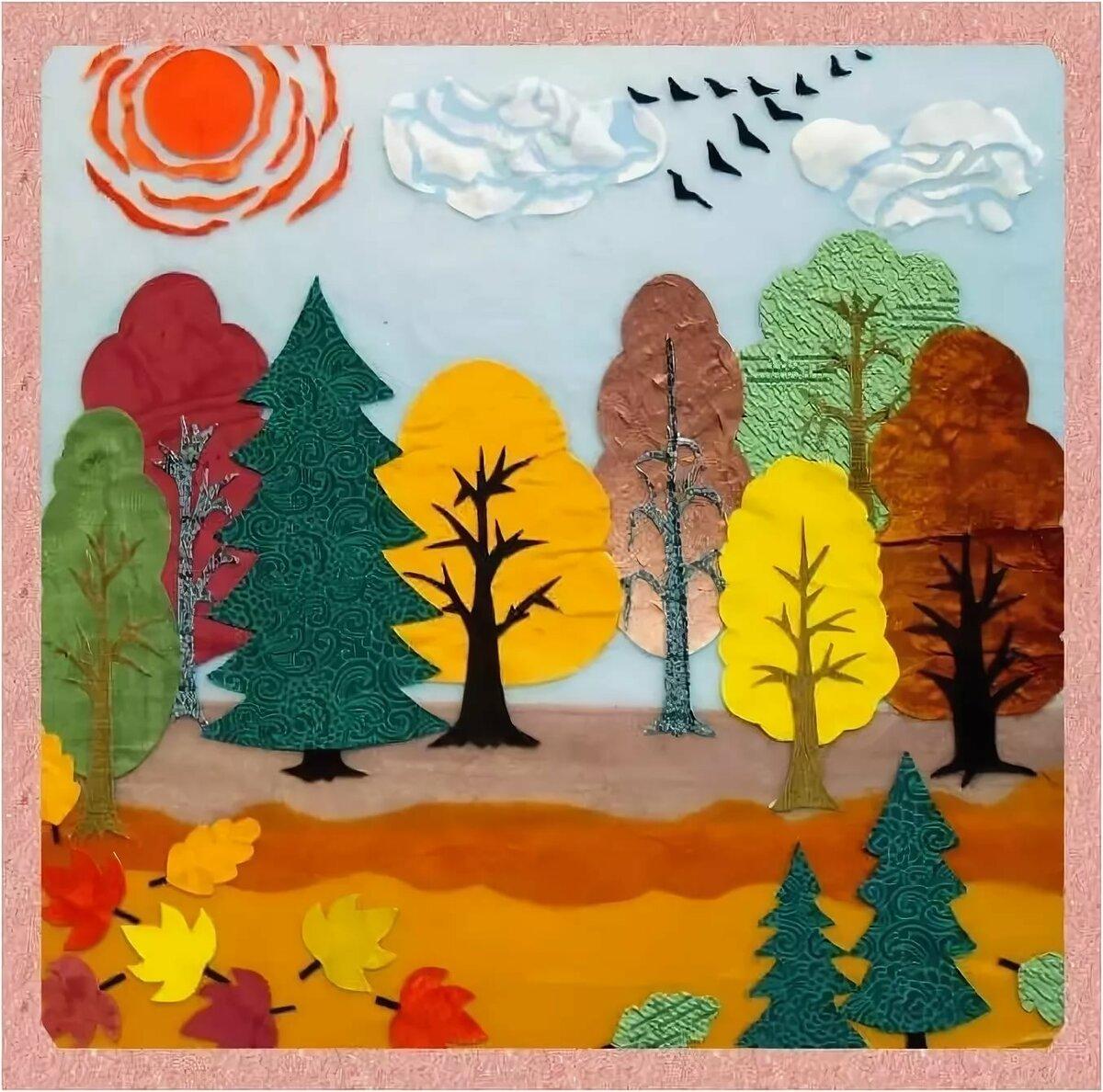 Картинка для аппликации лес