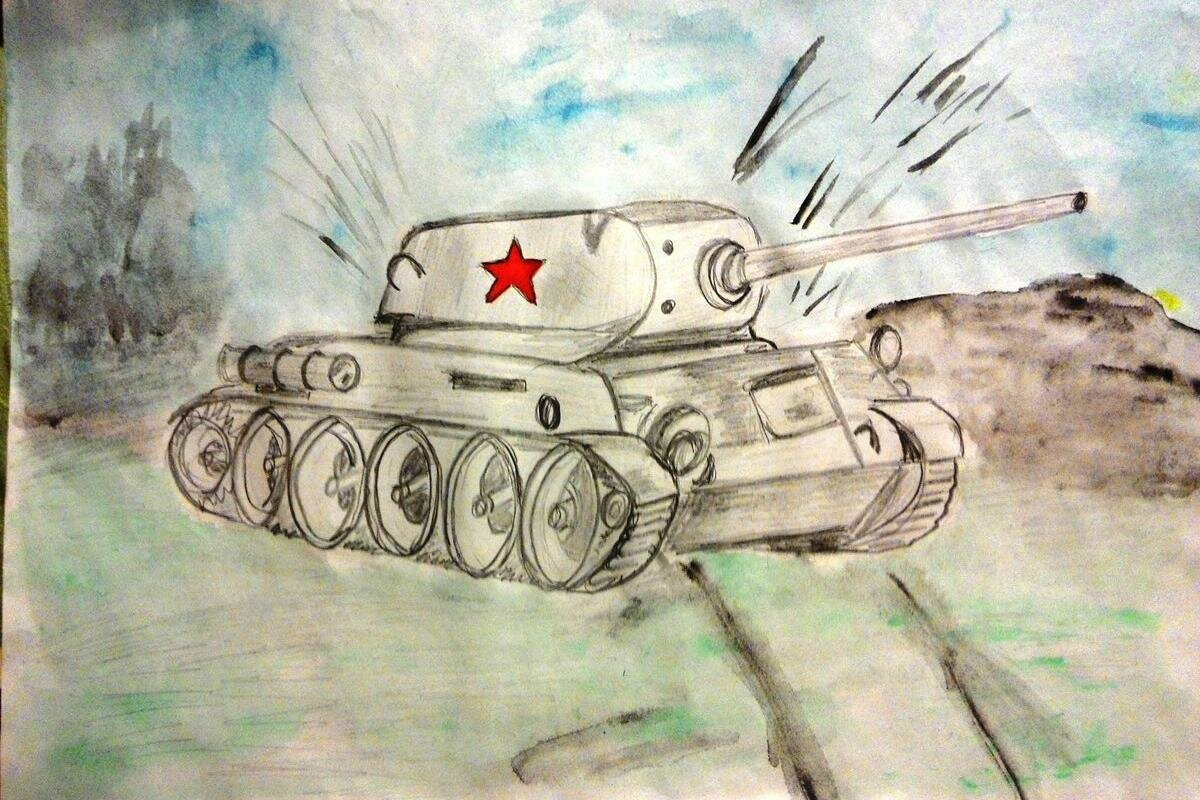 Картинки на тему война карандашом легкие