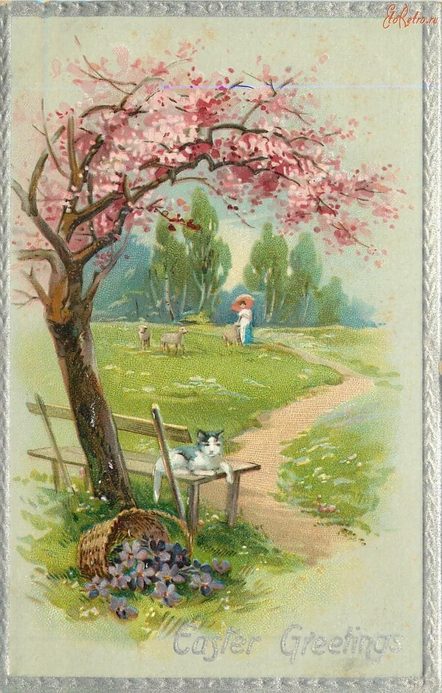 Пейзаж старинные открытки, красивые открытки