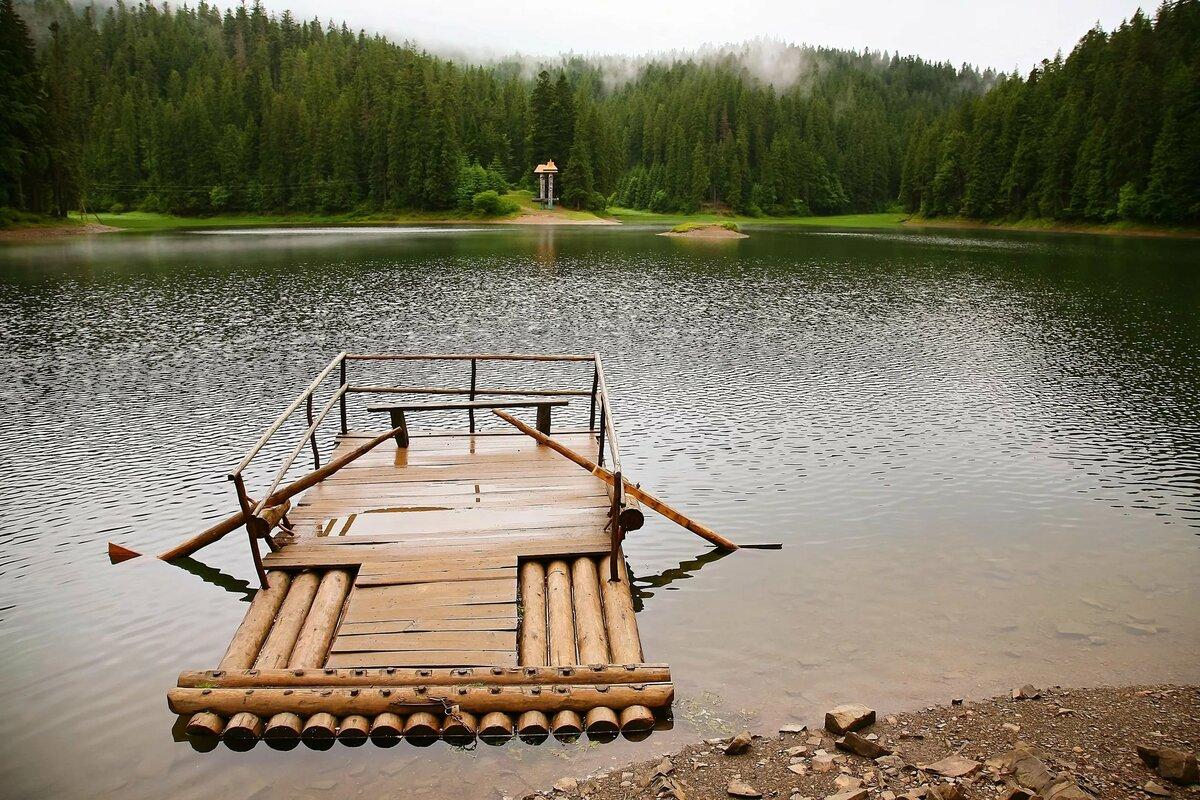 По реке плывут бревна фото