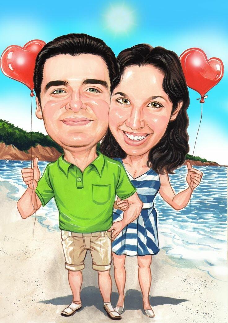 Картинки шаржей для пар