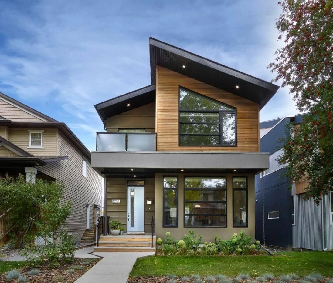 проекты односкатных двухэтажных домов