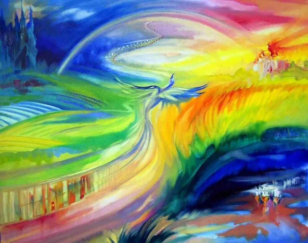 мире картинка красками наш мир точно также