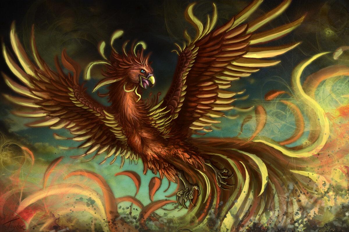птичка феникс картинки великаны находились