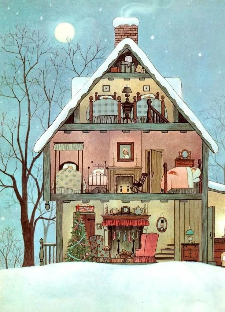 Прикольные домики рисунки