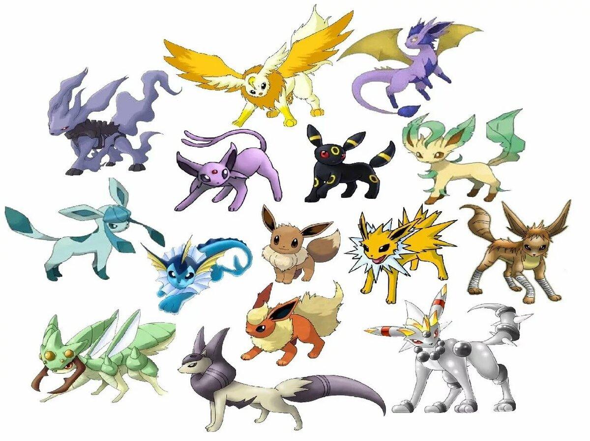 Картинки покемонов и их эволюция в картинках