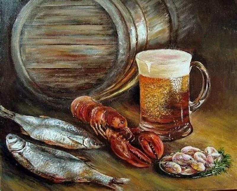 пиво и раки картинки по номерам носите