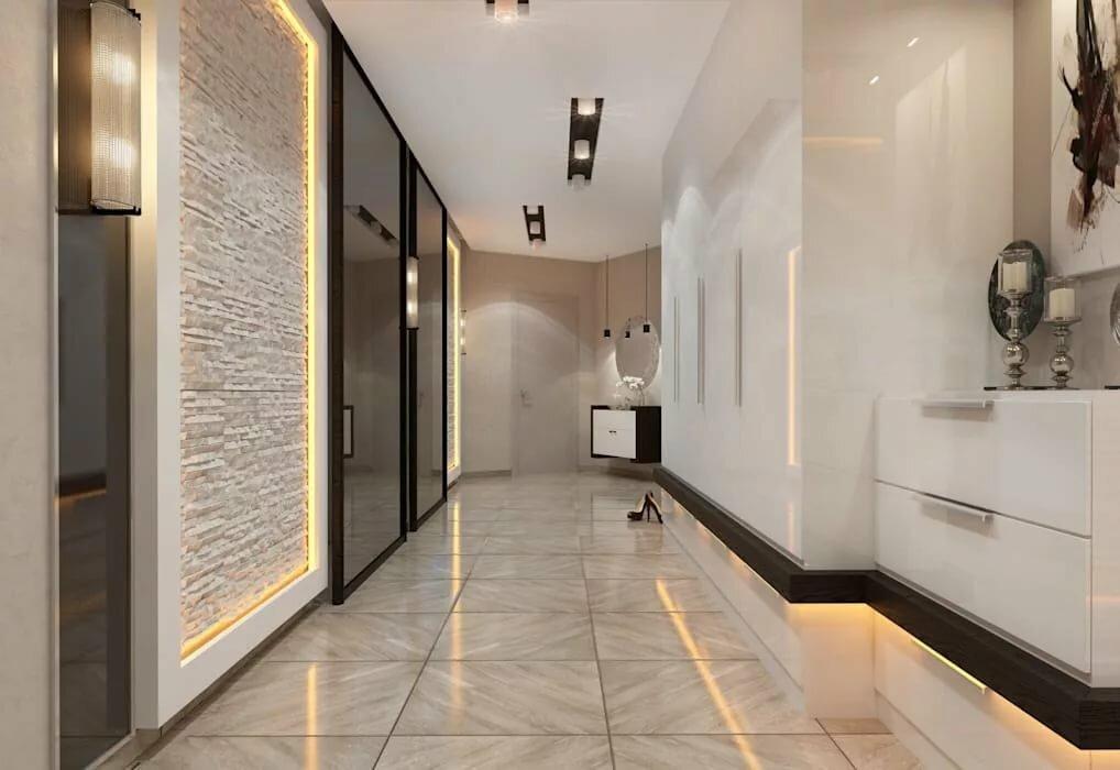 дизайн проект коридора в квартире фото выбор приятные цены