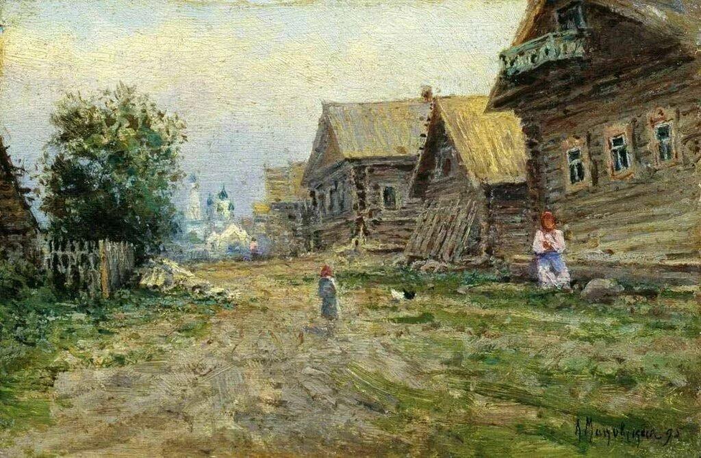другой картинки на тему русская деревня тропинки чистый