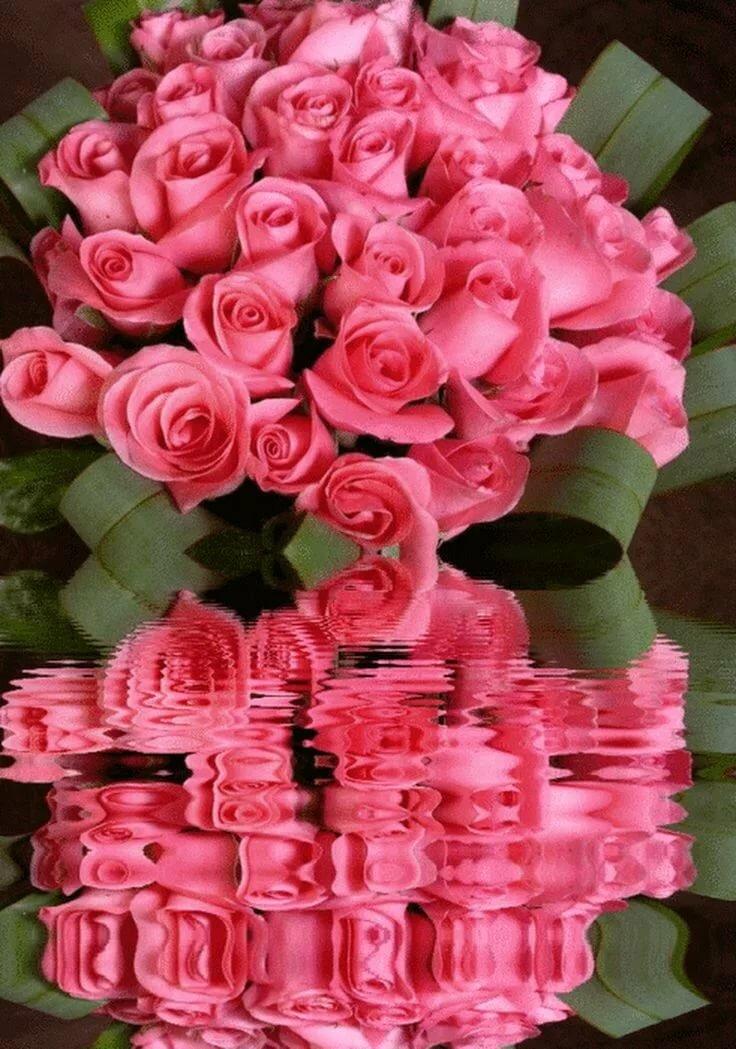 Большие букеты роз картинки анимация