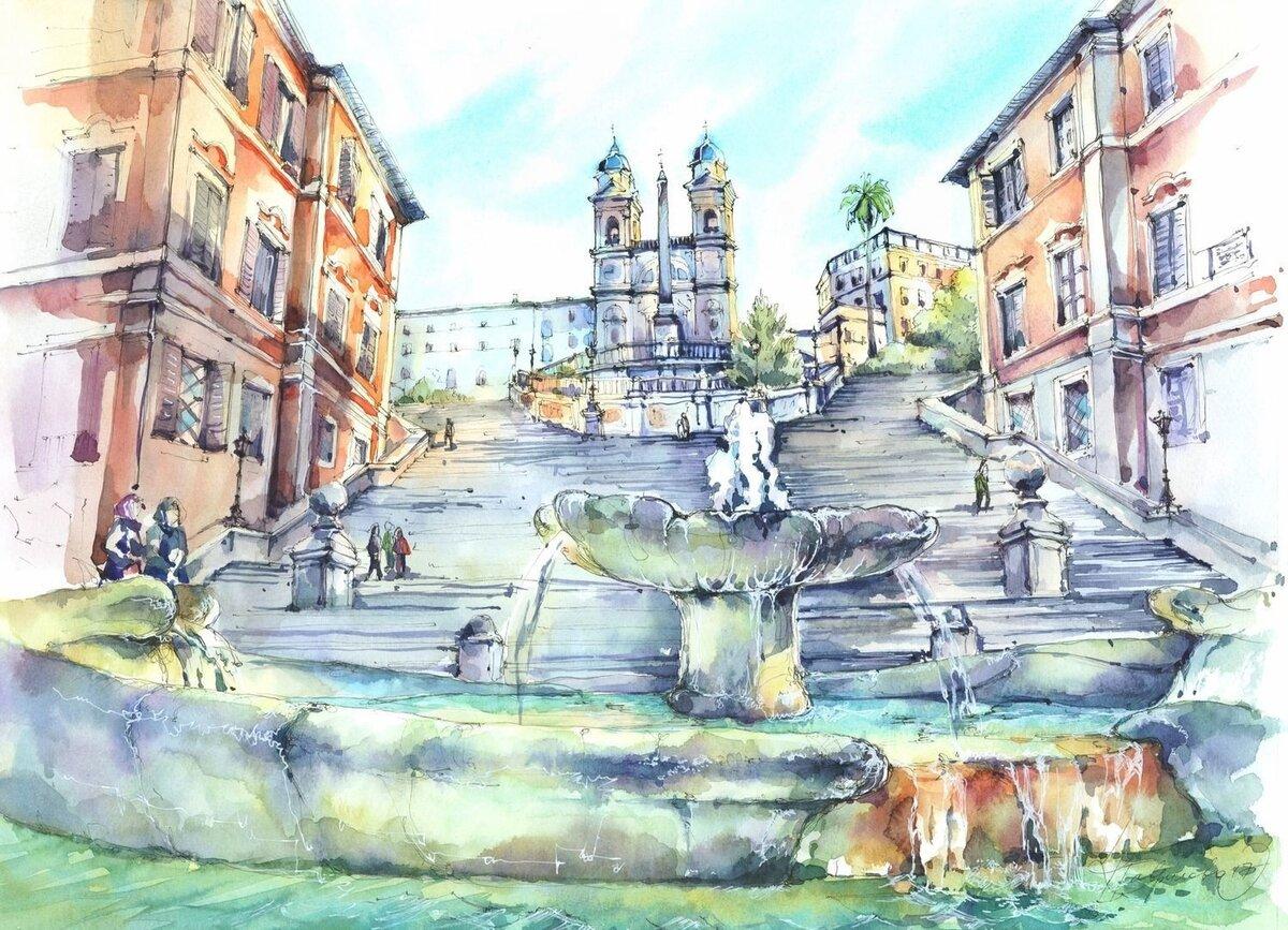 итальянский город рисунок домашних условия вполне