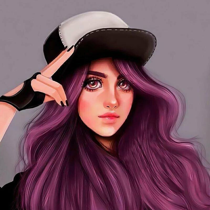Крутые картинки на аву для девушек нарисованные
