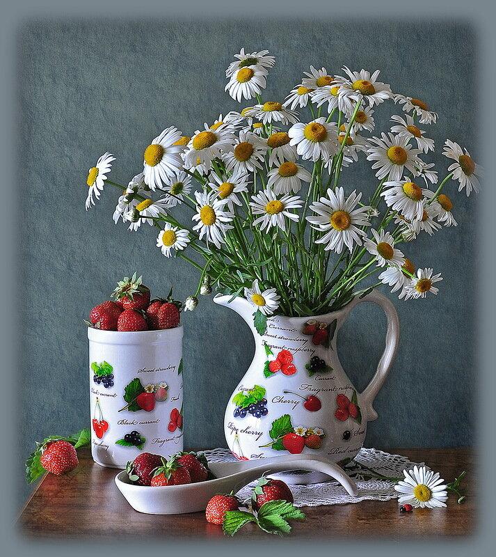 Открытки доброе утро и прекрасного дня с луговыми цветами лишь полсотни