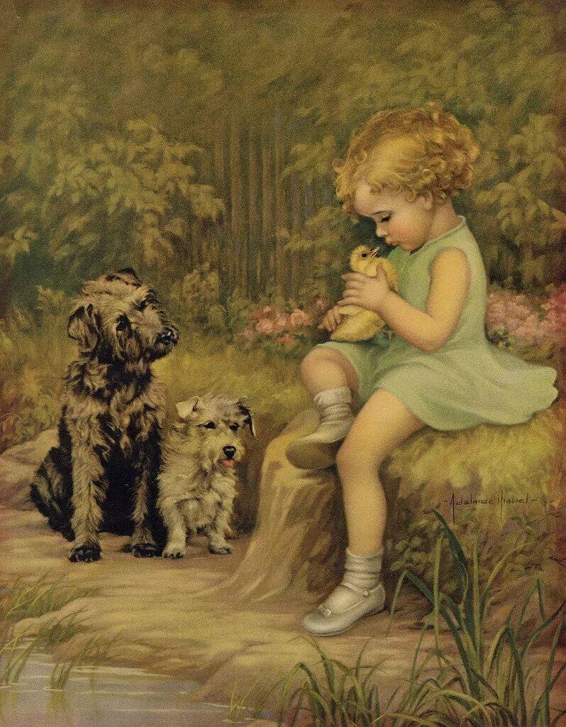 Картинки, картинки декупаж дети в живописи