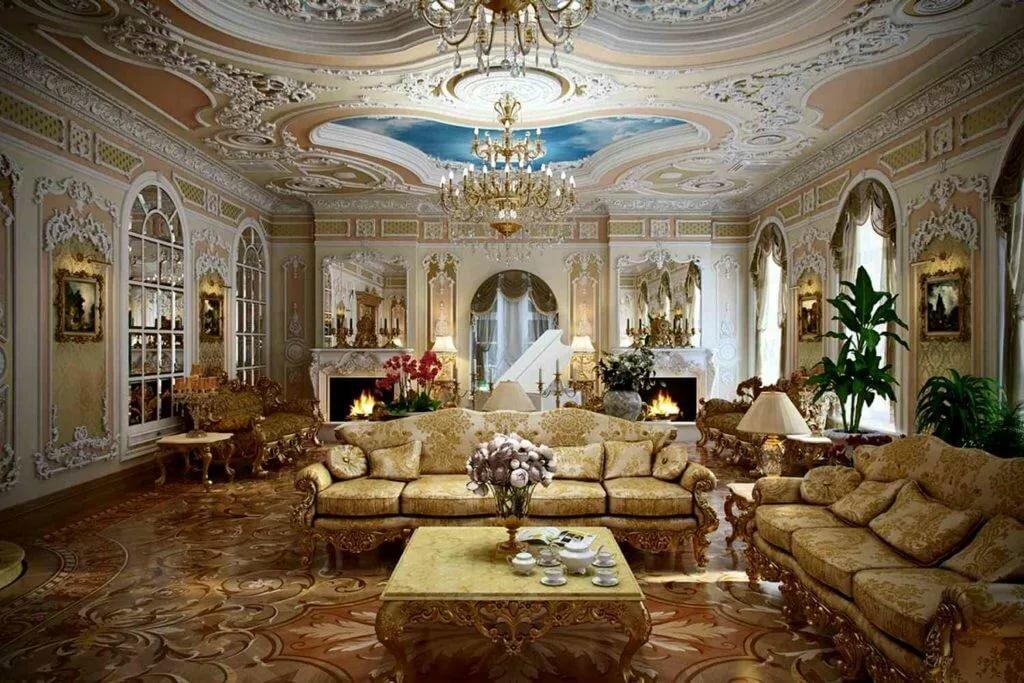 богатые дома потолок фото как