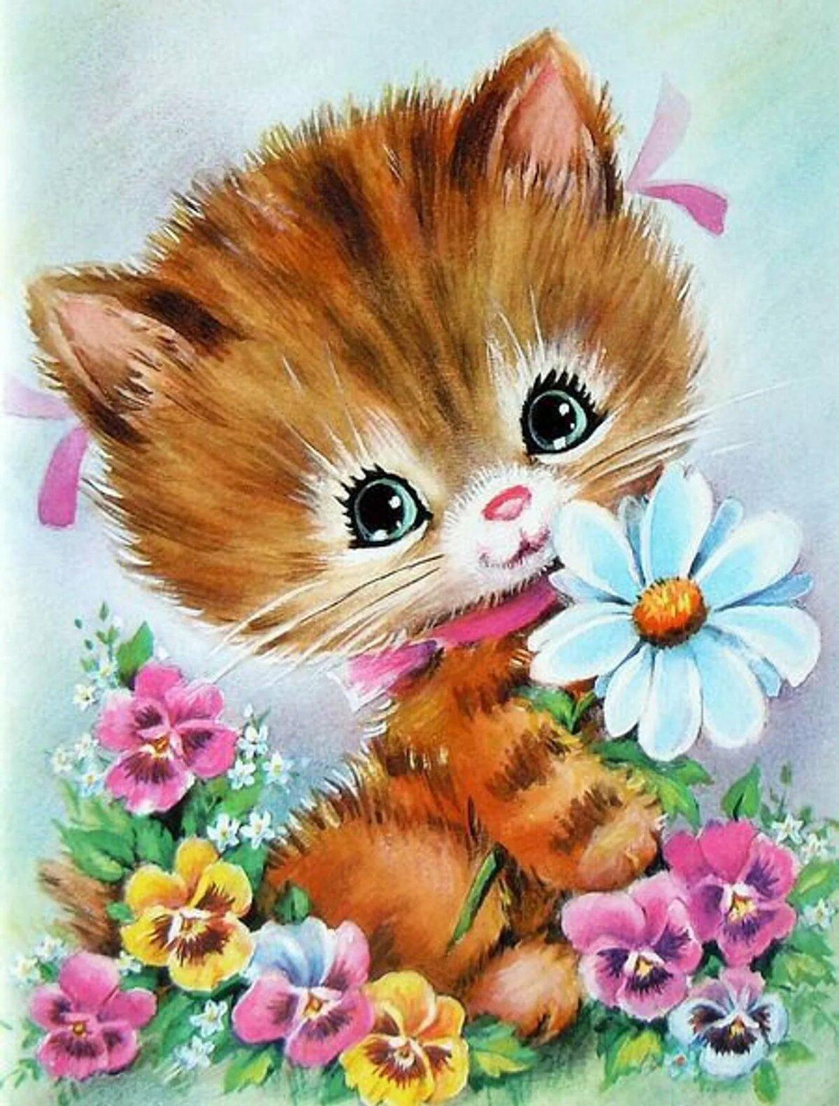 Открытки поздравляю с котиками, картинки