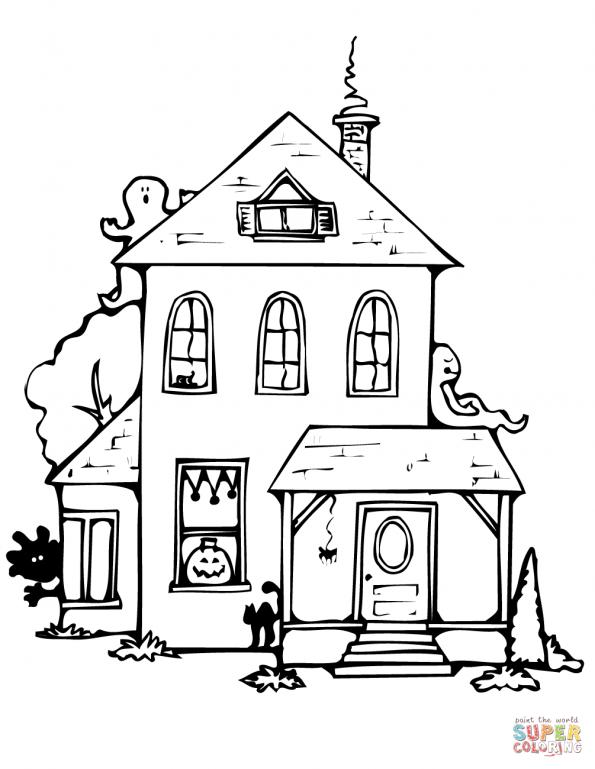Картинки разукрашки домиков