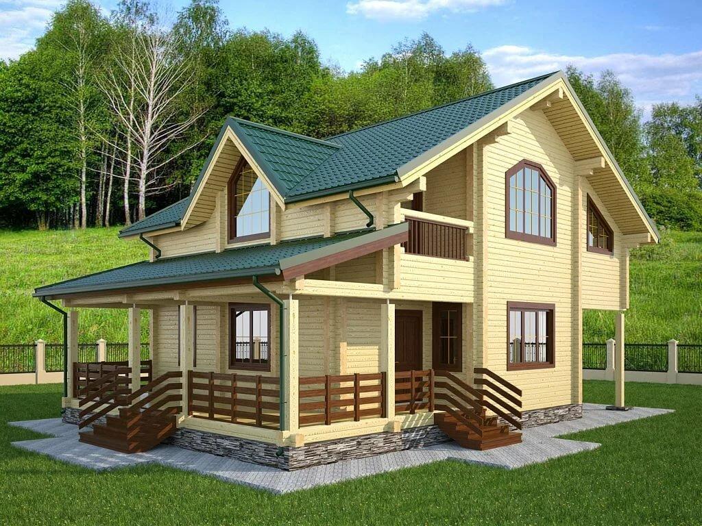 новые деревянные дома с мансардой фото легко