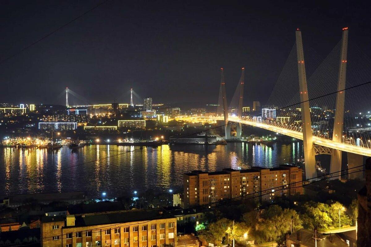 картинка мост ночью владивосток