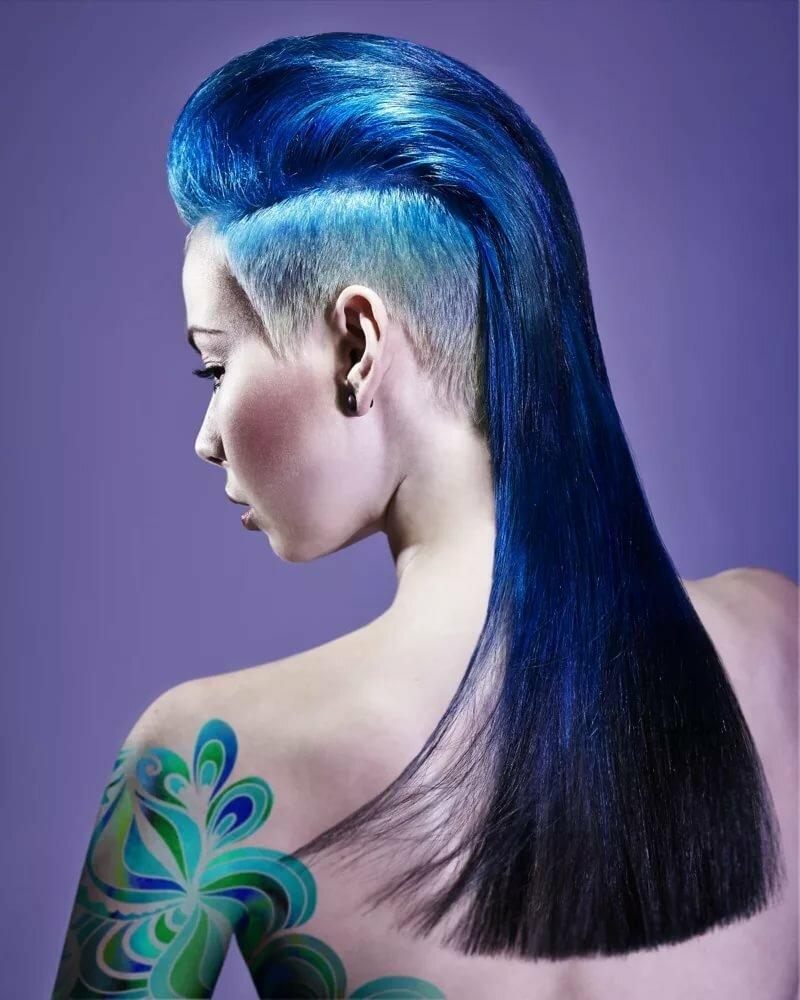 креативные стрижки средних волос в картинках белый грунт или