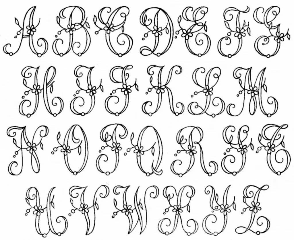 красивые буквы русского алфавита для оформления открыток