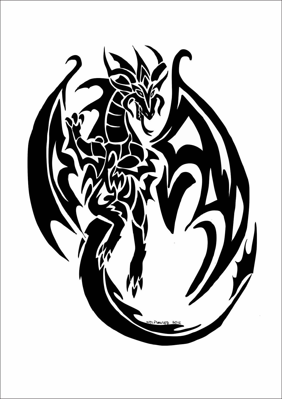 картинки узор дракон ребенку