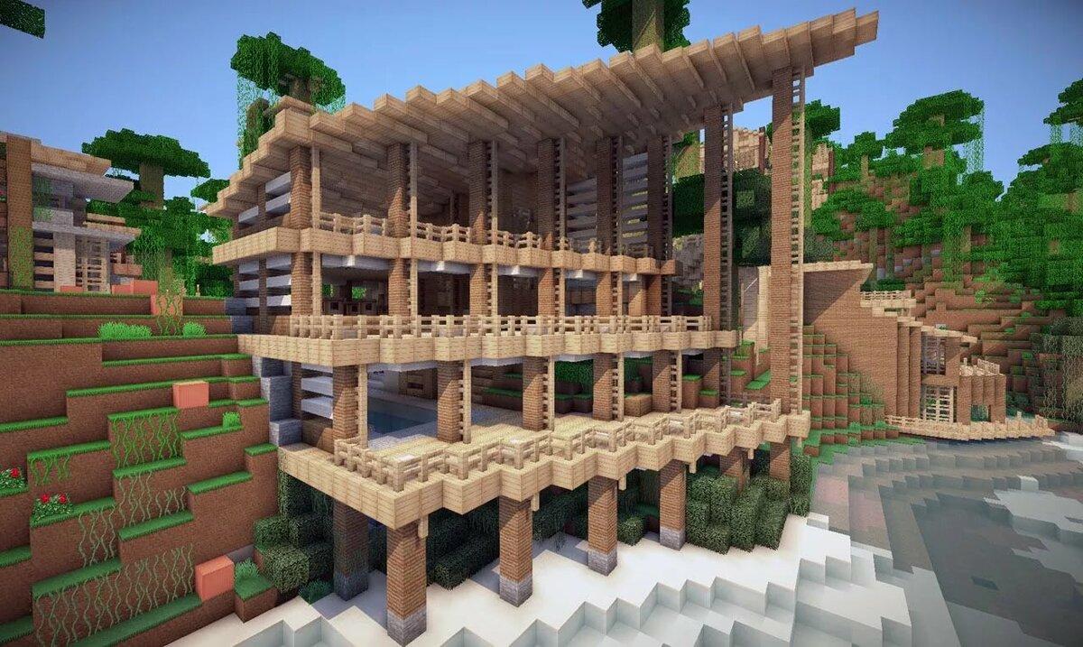 Картинки деревянных домов в майнкрафте