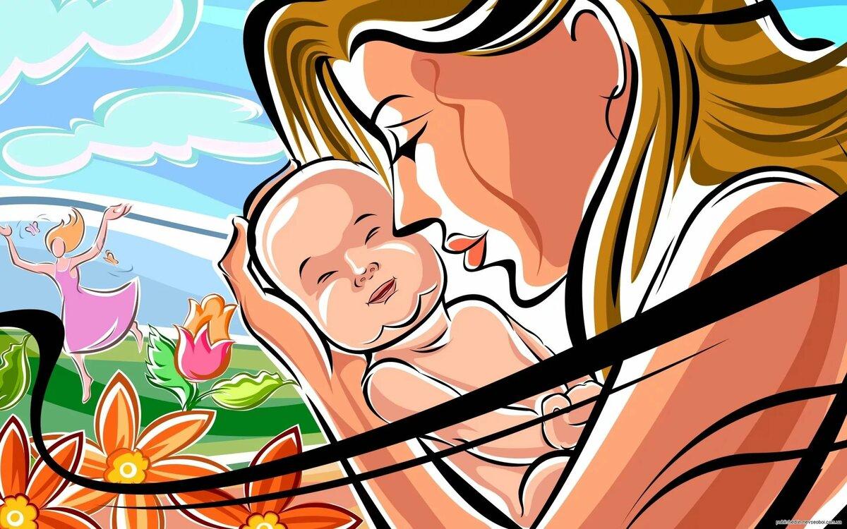 Картинки для рабочего стола мама с ребенком
