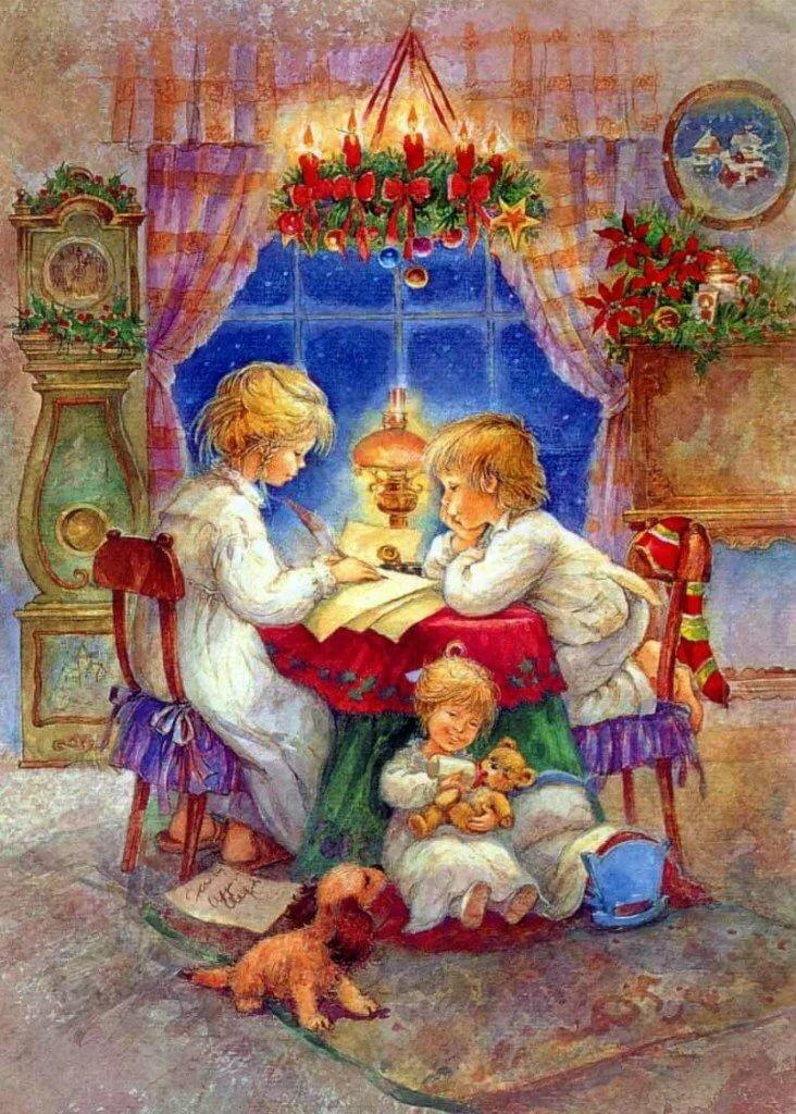 детям о рождестве с картинками естественно