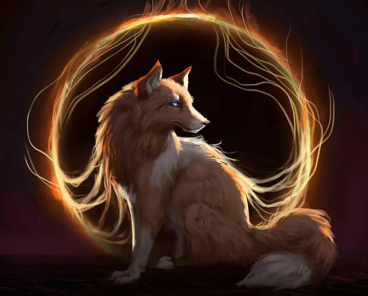 Огненный волк картинки