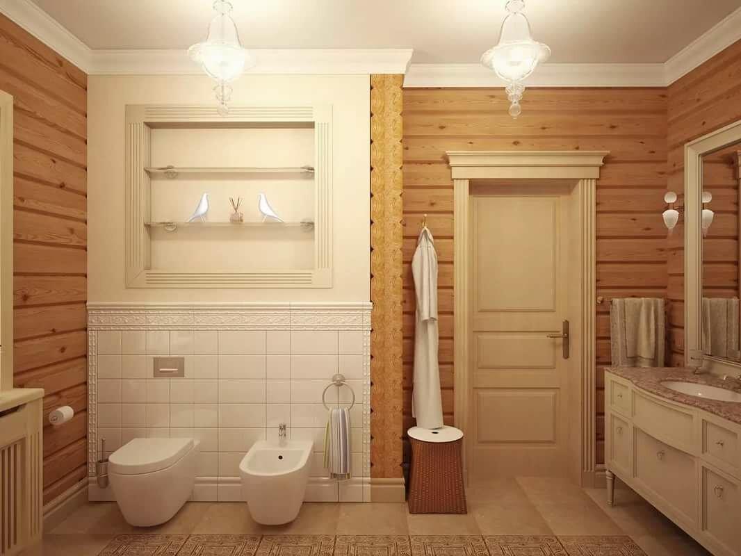последнее десятилетие санузел в деревянном доме фото дизайн можно высадить клумбу