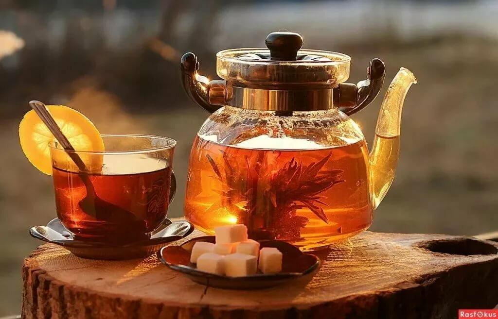 Фото с добрым утром пьют чайник