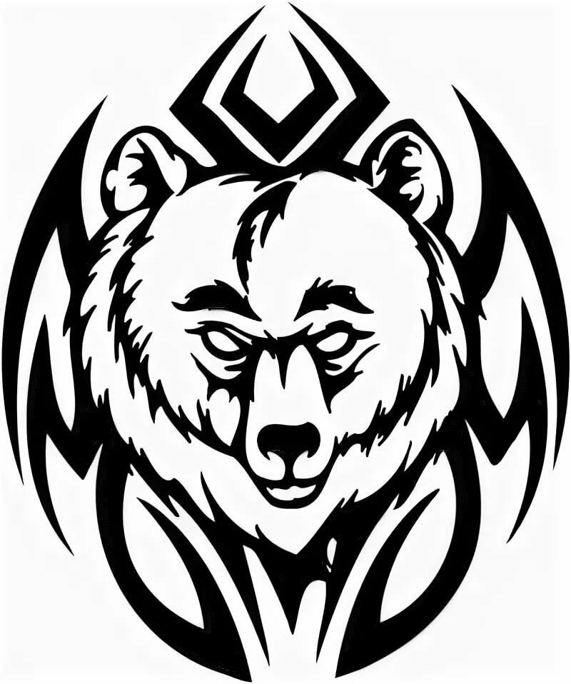 медведь тату картинки рисунки этом случае