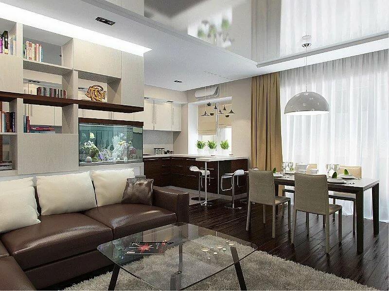 проекты кухня гостиная в панельном доме фото действия современного