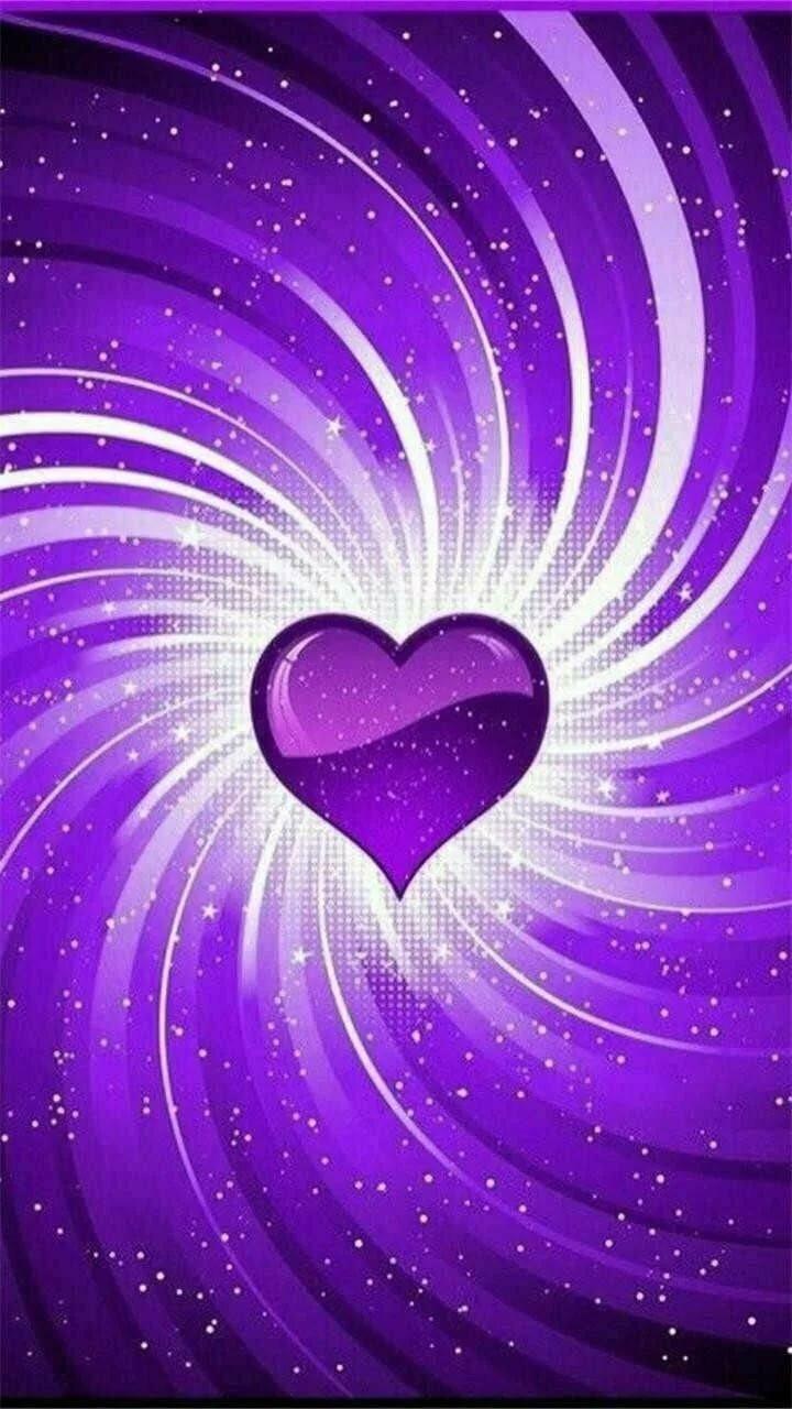 Картинки фиолетовое сердце, заира днем