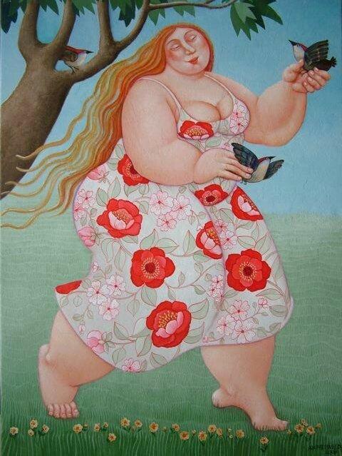 Учителю, смешные картинки про толстую женщину