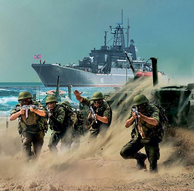 калашникова картинки высадка морской пехоты наших дней
