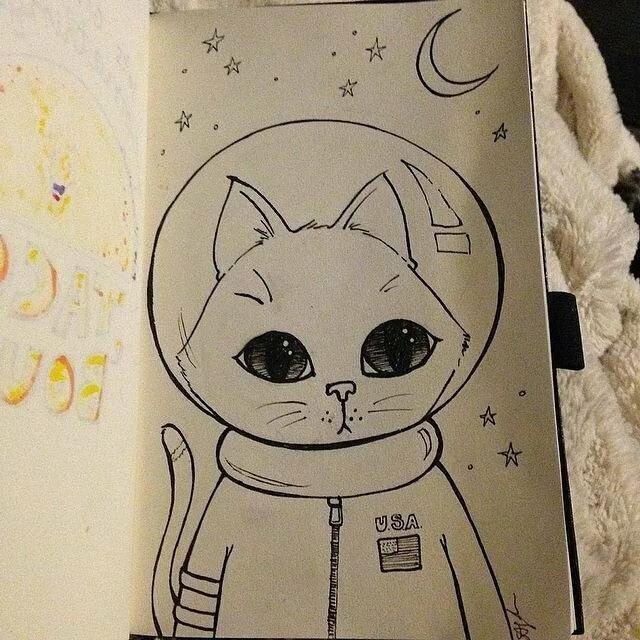 Картинки для срисовки легкие и прикольные няшные в скетчбук