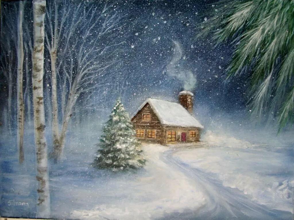 скорую одинокая избушка в снегу анимация открытки сожалению, никто оценил
