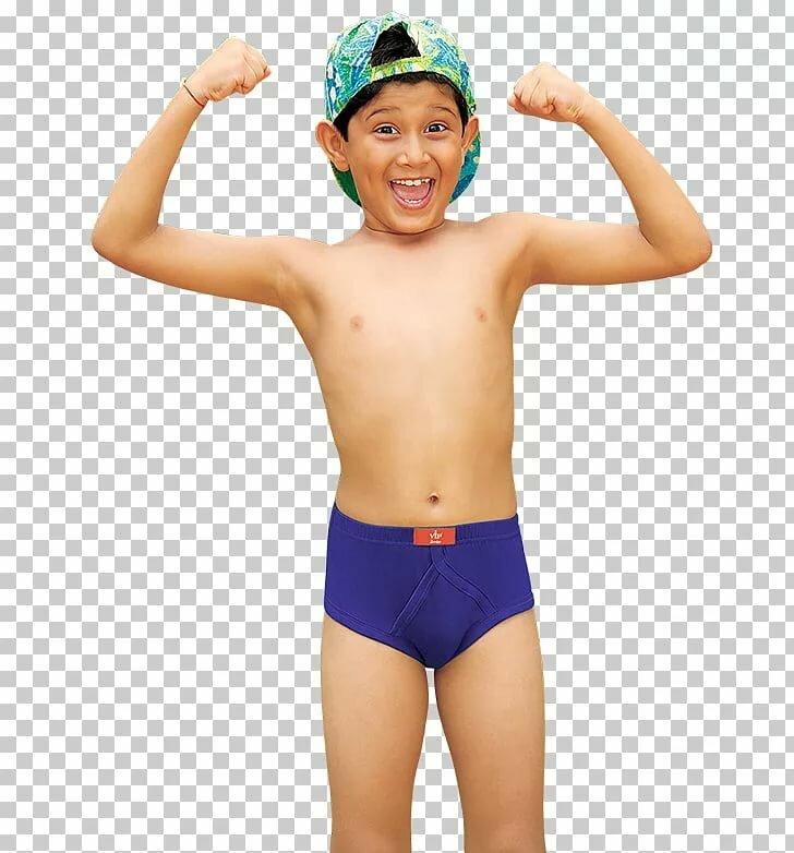 Nude boy underpants