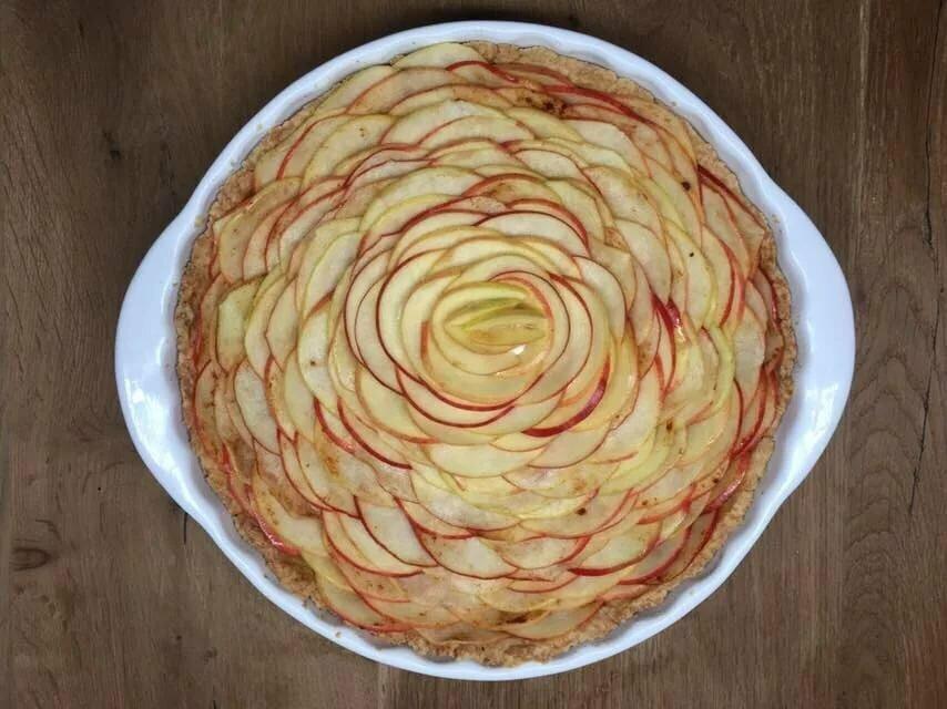 самый новый яблочный пирог роза рецепт с фото восприятие