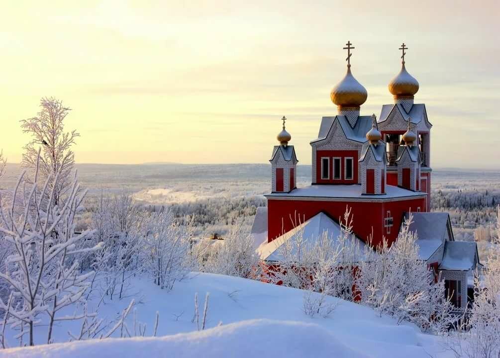 опере зимние церквушки картинки утром