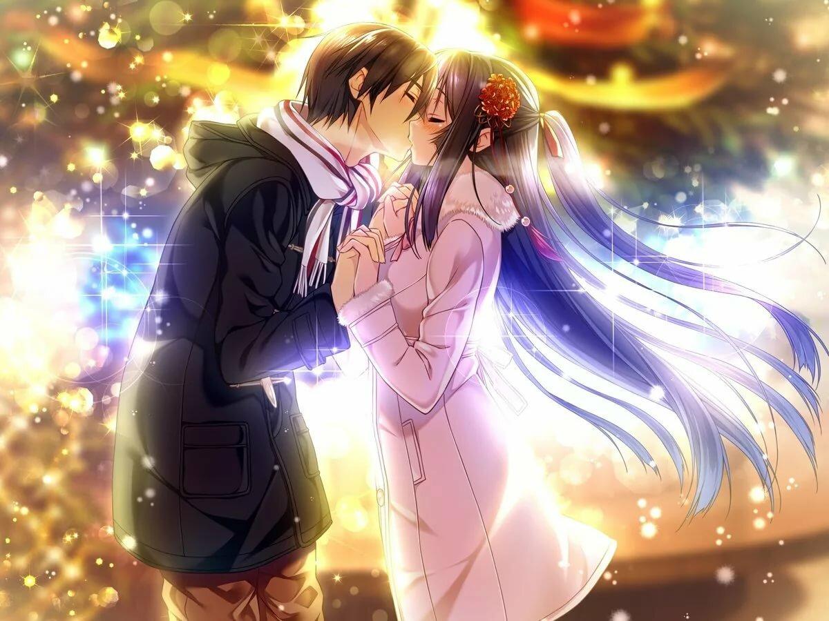 Открытки аниме про любовь