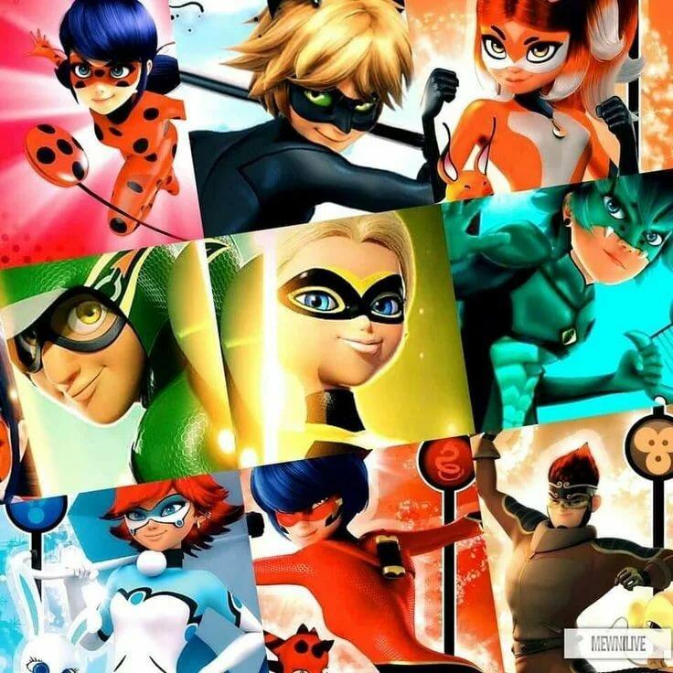 Все персонажи мультика леди баг и супер кот картинки