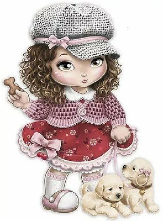 Кукла картинки красивые нарисованные, пионы открытки красивые