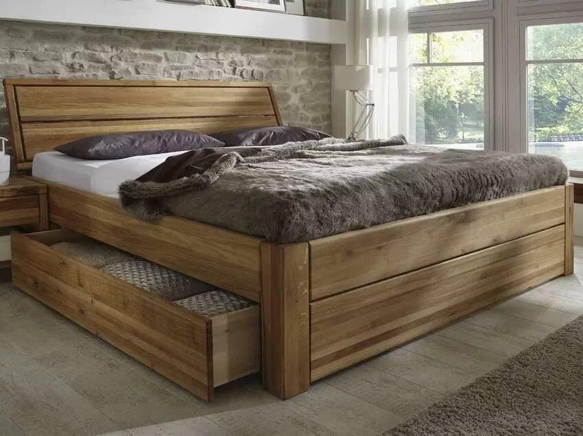 двуспальная кровать из дерева своими руками фото раз