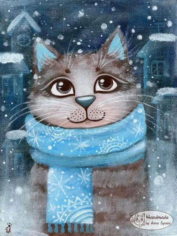 котенок в шарфе картинки иначе был бы