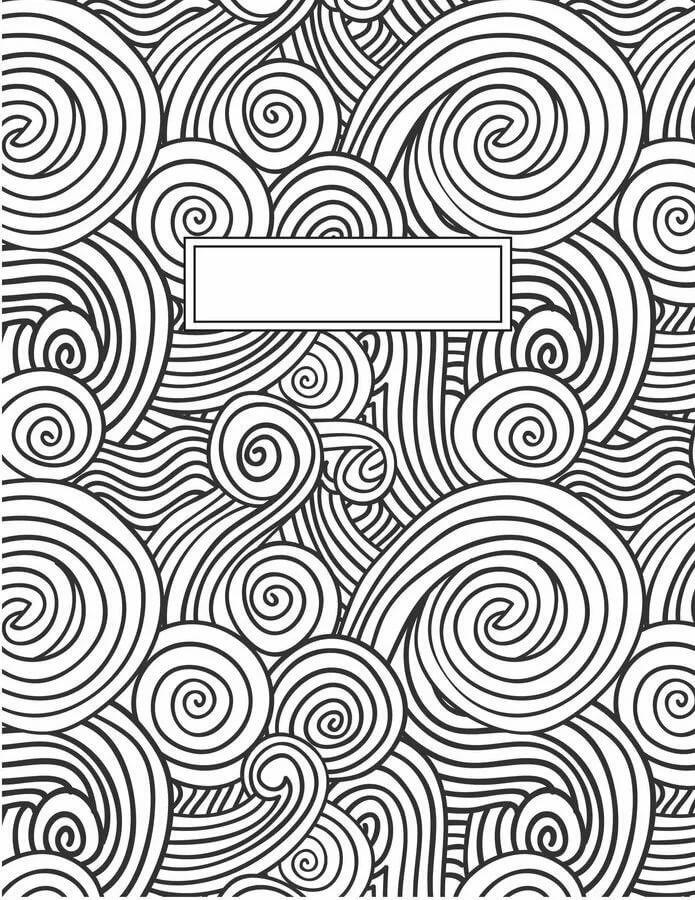 окружение рисунки для распечатки черно белые обложка на тетрадь собрали для